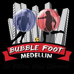 Logo Bubble Foot Medellin con Slogan